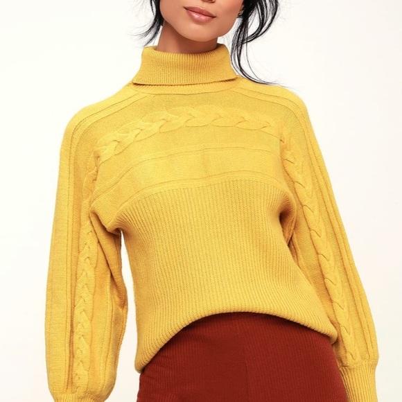 cc02ca1ac69 Yellow Oversized Sweater